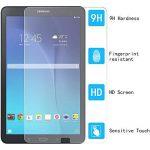 Samsung Galaxy Tab E 9.6 Protection d'écran, Rusee Samsung Galaxy Tab E 9.6 Protecteur d'écran Film en verre trempé Film Vitre [Haute Définition] [Sans bulle] [9H Dureté] Pour Samsung Galaxy Tab E 9.6-Inch Tablet (SM-T560, SM-T561, SM-T565) de la marque R image 2 produit