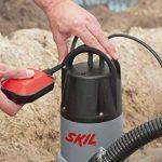 Skil 0810AA Pompe à eau Submersible / Immergée pour Pompe Eaux Chargée (500W, 10m Câble, avec Flotteur et Raccord universel) de la marque SKIL image 4 produit