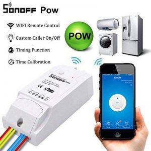 Snoff POW 16A Wifi Smart Home contrôleur de température et d'humidité téléphone portable App télécommande sans fil commutateur de commande à distance sans fil WiFi Smart Swtich module de mesure de la consommation d'énergie a de la marque Jintime image 0 produit