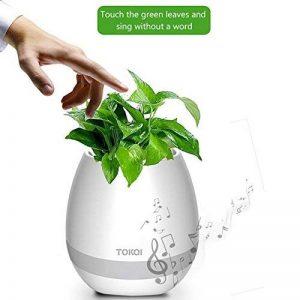 Soundsbeauty haut-parleurs Bluetooth, Smart doigt Musique Pot de fleurs Pot de fleurs Bureau Décor blanc de la marque SoundsBeauty image 0 produit