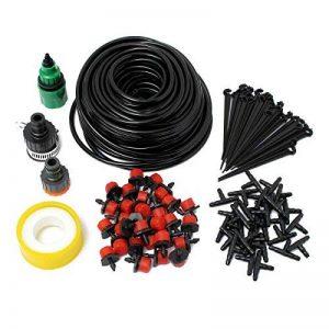 STAR SSTO 25M Micro Flow Drip Watering Irrigation Kits Système Self Plant Kits d'arrosage de tuyaux de jardin 30 Drippper Automatic Garden Plant Système d'eau de serre de la marque STAR SSTO image 0 produit