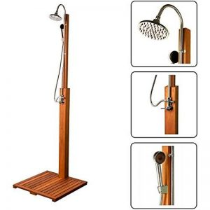 Stilista® douche de jardin Cascata 100% FSC bois dur Shorea certifié, huilé incl. Douchette de la marque Stilista image 0 produit