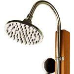 Stilista® douche de jardin Cascata 100% FSC bois dur Shorea certifié, huilé incl. Douchette de la marque Stilista image 1 produit