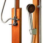 Stilista® douche de jardin Cascata 100% FSC bois dur Shorea certifié, huilé incl. Douchette de la marque Stilista image 2 produit