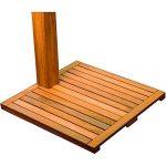 Stilista® douche de jardin Cascata 100% FSC bois dur Shorea certifié, huilé incl. Douchette de la marque Stilista image 4 produit