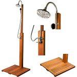 Stilista® douche de jardin Cascata 100% FSC bois dur Shorea certifié, huilé incl. Douchette de la marque Stilista image 5 produit