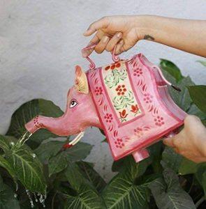 storeindya Arrosoir décoratif en métal Jar avec poignée Multicolor extérieur Usage intérieur Accessoires de décoration de jardinage (éléphant) de la marque storeindya image 0 produit