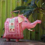 storeindya Arrosoir décoratif en métal Jar avec poignée Multicolor extérieur Usage intérieur Accessoires de décoration de jardinage (éléphant) de la marque storeindya image 1 produit