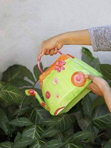 Storeindya - Arrosoir en métal avec poignée - Floral Print Design - Usage intérieur extérieur Accessoires de décoration de jardinage de la marque storeindya image 0 produit