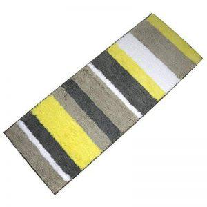 Tapis de bain antidérapant et anti-moisissure Pauwer - Lavable en machine, Microfibre, jaune, 45x120cm de la marque Pauwer image 0 produit