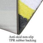 Tapis de bain antidérapant et anti-moisissure Pauwer - Lavable en machine, Microfibre, jaune, 45x120cm de la marque Pauwer image 3 produit
