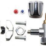 TDSpares Kit robinet autoperceur pour tuyaux en cuivre 10-16 mm avec inserts rouge et bleu pour chaud ou froid de la marque TDSpares image 1 produit