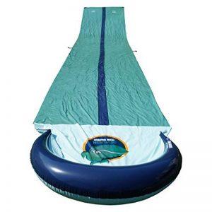 Team Magnus tapis de glisse à eau gonflable double piste toboggan piscine XXL (950 cm x 160 cm) de la marque Team Magnus image 0 produit