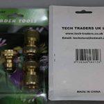 Tech Traders Lot de 4 raccords de tuyaux en laiton, pour tuyau de jardin, robinet tuyau d'arrosage, connecteurs rapides et embouts de buse de pulvérisation de la marque Tech Traders image 2 produit