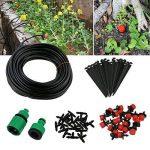 TedGem Kit Irrigation Goutte à Goutte, d'arrosage automatique système DIY Avec arrosage Micro Arroseur et 20m Tuyaux, pour jardin serre potager pelouse de la marque TedGem image 1 produit