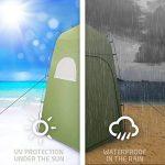 Tente de Douche Camping Terra Hiker, Cabine de Toilette WC Extérieure Abri de Plein Air Avec Fenêtres Pour Camping Randonnée Plage Séance Photo de la marque Terra Hiker image 4 produit
