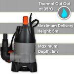 Terratek 400W Pompe à eau submersible, convient pour pomper l'eau sale, idéal pour les piscines, les caves inondées, grands bassins et plus de la marque Terratek image 1 produit
