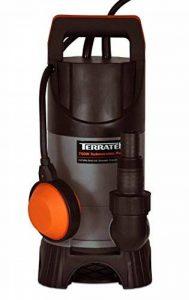 Terratek 400W Pompe à eau submersible, convient pour pomper l'eau sale, idéal pour les piscines, les caves inondées, grands bassins et plus de la marque Terratek image 0 produit