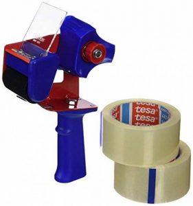 tesafilm Lot de 2 rubans d'emballage 66m x 50mm + Dérouleur de la marque Tesa image 0 produit