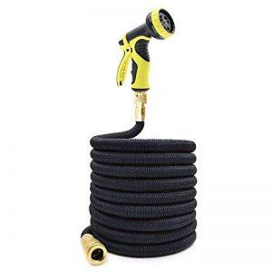 Tespressolife Tuyau d'arrosage extensible d'arrosage flexible Extensible Avec 9 Fonction Buse de pulvérisation haute pression Rondelle pour arroser à laver de nettoyage (7,5 m, Noir) 25ft noir de la marque Tespressolife image 0 produit