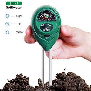 Testeur de Sol Mètre d'humidité 3 en 1, Lumière et Testeur de pH Acidité, Plante du Sol Testeur Kit, Affichage LCD, pour le Jardin, Ferme, Pelouse, Intérieur et Extérieur. (Sans batterie Nécessaire) de la marque CGBOOM image 0 produit