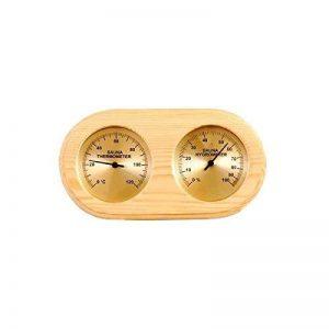 Thermomètre , Hygromètre en Bois pour sauna fond doré de la marque Desineo image 0 produit