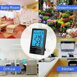 Thermomètre Interieur, PiAEK Thermomètre Hygromètre Numérique, Ecran LCD Moniteur Electronique de Température et Humidité, ℃/℉ Commutateur, Portable Taille Mini (Noir) de la marque PiAEK image 3 produit