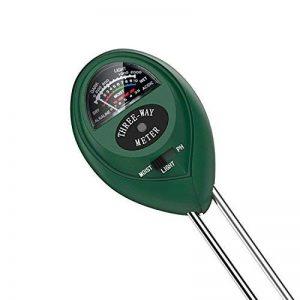 Tifanti 3en 1testeur de sol Mètre d'humidité, lumière et testeur de pH acidité, Plante kit de testeur de sol pour jardin Ferme pelouse etc. de la marque TIFANTI image 0 produit