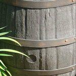 Tonneau récupérateur d'eau de pluie / 238 capacite d'un litre / Grand baril d'effet d'Oakwood avec le robinet en laiton de la marque Victorian Garden & Lighting Company image 3 produit