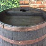 Tonneau récupérateur d'eau de pluie / 238 capacite d'un litre / Grand baril d'effet d'Oakwood avec le robinet en laiton de la marque Victorian Garden & Lighting Company image 4 produit