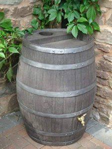 Tonneau récupérateur d'eau de pluie / 238 capacite d'un litre / Grand baril d'effet d'Oakwood avec le robinet en laiton de la marque Victorian Garden & Lighting Company image 0 produit