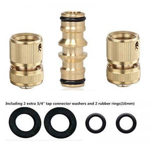 Topways reg; Kit de réparation de tuyau 2x Laiton Raccord d'arrosage Rapides pour tuyau & Double connecteur pour tuyau d'arrosage de la marque Topways image 0 produit