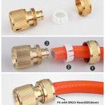 Topways reg; Kit de réparation de tuyau 2x Laiton Raccord d'arrosage Rapides pour tuyau & Double connecteur pour tuyau d'arrosage de la marque Topways image 4 produit