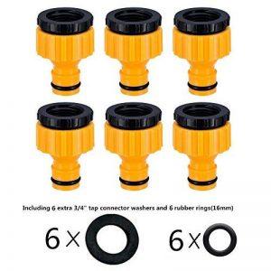 Topways reg; Plastique 3/4 '' and 1/2 '' BSP 2in1 nez de robinet d'arrosage à visser débit Tap Connector Threaded Faucet Adapter 6 pack de la marque Topways image 0 produit