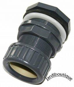 Traversée de paroi pvc + écrou de serrage Diamètre 32 mm montage du tuyau rapide - idéal pour aquaponie - jardiboutique de la marque SAS MV image 0 produit