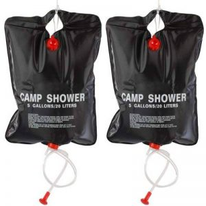 TRIXES 2 X 5 Gin Pêche Army Camp Camping solaire Propulsé Douches de la marque TRIXES image 0 produit