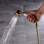 Trustmi de salle de bain Laiton Handheld Pomme de douche avec tuyau, PVD Finition or Ti de la marque TRUSTMI image 1 produit