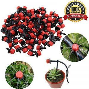 Tête de gicleurs d'irrigation, Shineus Plastique réglable Micro Drip irrigation Kits arroseurs Système émetteur pour jardin Lot de 100 de la marque Shineus image 0 produit