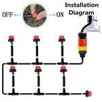 Tête de gicleurs d'irrigation, Shineus Plastique réglable Micro Drip irrigation Kits arroseurs Système émetteur pour jardin Lot de 100 de la marque Shineus image 1 produit
