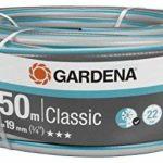 """Tuyau Classic de GARDENA 19 mm (3/4""""), 50 m: tuyau d'arrosage universel en tissu croisé robuste, résistance à l'éclatement de 22 bars, résistant aux UV, sans pièce du système, empaqueter (18022-20) de la marque Gardena image 1 produit"""