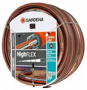 """Tuyau d'arrosage Comfort HighFLEX de GARDENA 19mm (3/4""""), 50 m: tuyau à profil Power-Grip, résistance à l'éclatement de 30 bars (18085-20) de la marque Gardena image 0 produit"""