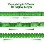 Tuyau d'Arrosage Extensible Vert en Latex avec Pistolet de Pulvérisation 8 Fonctions de Haute Pression Connecteur en Laiton Massif - 50FT de la marque Naisdier image 3 produit