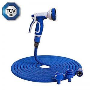 Tuyau flexible d'arrosage tuyau d'arrosage bleu Tuyau magique extensible tuyau magique (15m) de la marque Home&Decorations image 0 produit