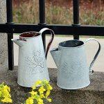 Twinkbling vintage Arrosoir Style français Style shabby chic Blanc en métal Pichet Vase de fleurs avec oiseau décoratif de la marque TwinkBling image 4 produit