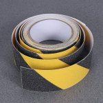 Ueetek Noir et jaune antidérapant de sécurité ruban adhésif haute adhérence Safe abrasifs Grain Grip 5,1cm par 5m pour une utilisation en intérieur et en extérieur de la marque UEETEK image 3 produit