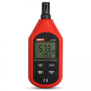 UNI-T UT333 Mini LCD Thermomètre Numérique Hygromètres Air Température et Humidité Mètres Humidimètre Capteur Avec affichage Max Min Value (Noir et Rouge) de la marque JalonC image 0 produit