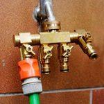 """UPP &apos Distributeur d'eau 4voies pour la connexion 1/2""""et 3/4ports/Robinet Robinet/Adaptateur/Raccord de tuyau/tuyau de raccordement à l'eau/répartiteur/Multiple de la marque UPP image 3 produit"""
