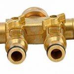"""UPP &apos Distributeur d'eau 4voies pour la connexion 1/2""""et 3/4ports/Robinet Robinet/Adaptateur/Raccord de tuyau/tuyau de raccordement à l'eau/répartiteur/Multiple de la marque UPP image 2 produit"""