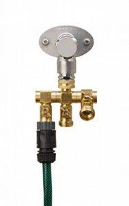 """'UPP® Distributeur d'eau 3voies pour robinet 1/2""""& 3/4"""" Robinet Connecteurs avec 3/4filetage mâle Raccord de tuyau/Robinet connecteur/Adaptateur/Raccord de tuyau/tuyau de raccordement à l'eau/répartiteur de la marque UPP image 0 produit"""