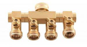 """'UPP® Distributeur d'eau 4voies 1/2""""& 3/4"""" pour robinet robinet Connecteurs avec 3/4filetage mâle Raccord de tuyau/Robinet connecteur/Adaptateur/Raccord de tuyau/tuyau de raccordement à l'eau/répartiteur de la marque UPP image 0 produit"""